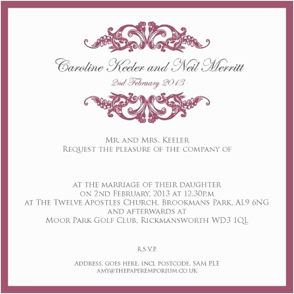 Wedding Invitation Wording Examples Proper Wedding Invitation Wording