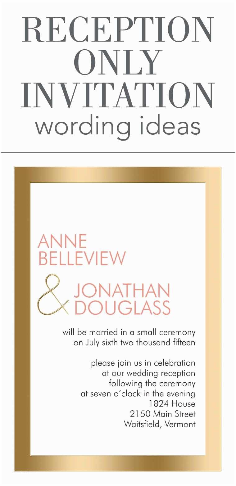 Wedding Invitation Wording Examples Reception Ly Invitation Wording