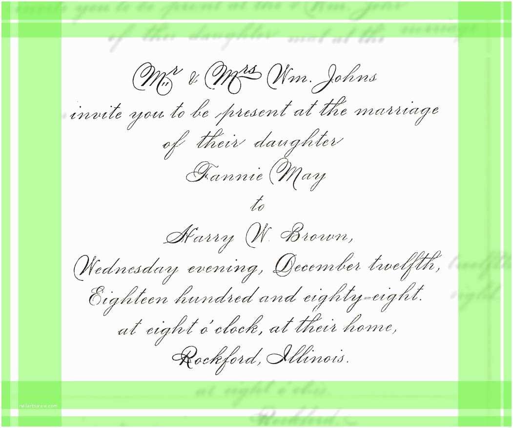Wedding Invitation Wording Examples Wedding Invitation formal Wording Examples Yaseen for