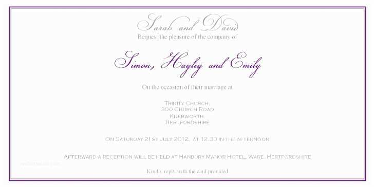 Wedding Invitation Wording From Bride and Groom Wedding Invitation Wording From Bride and Groom is Awesome