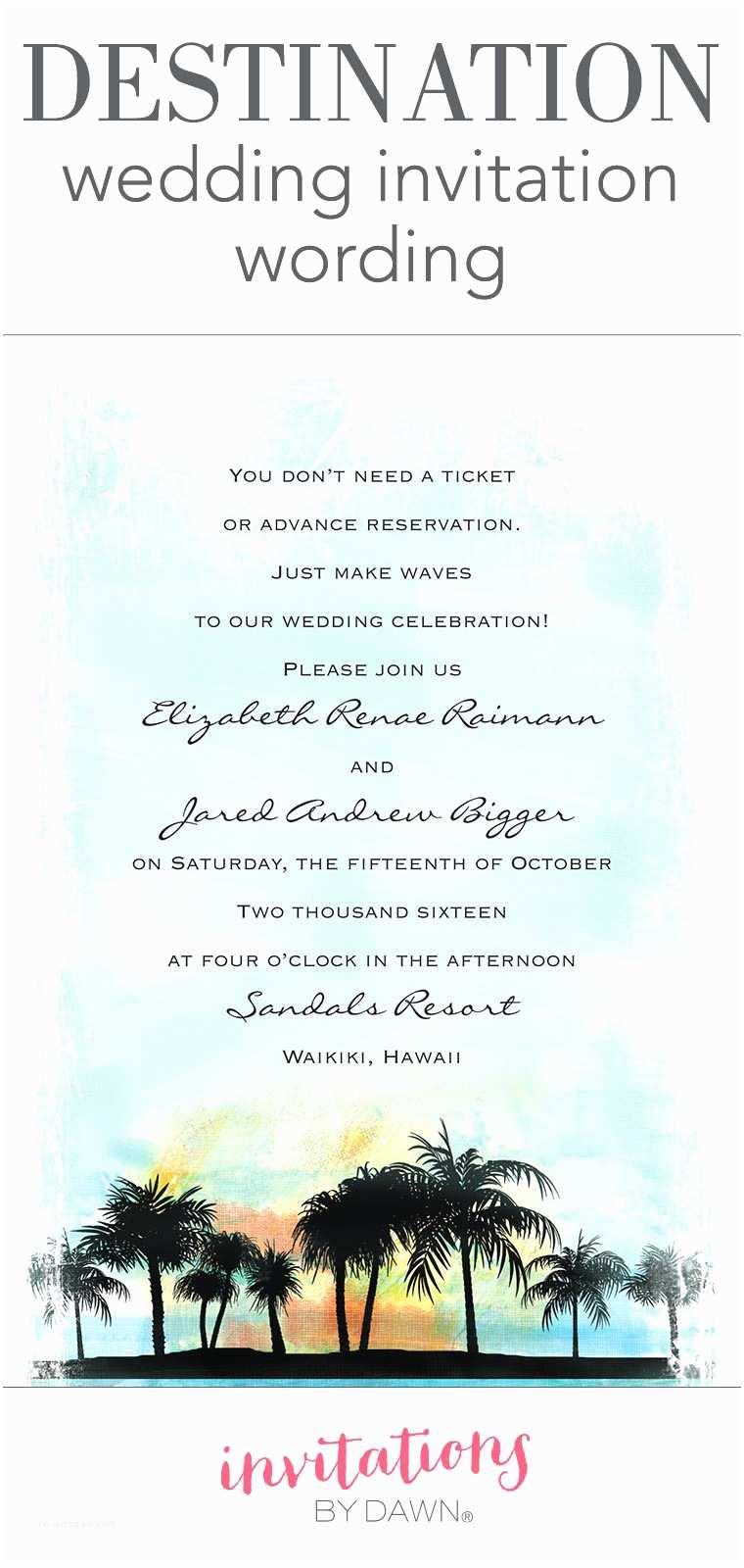 Wedding Invitation Wording From Nephew 55 Unique Destination Wedding Save the Date Wording