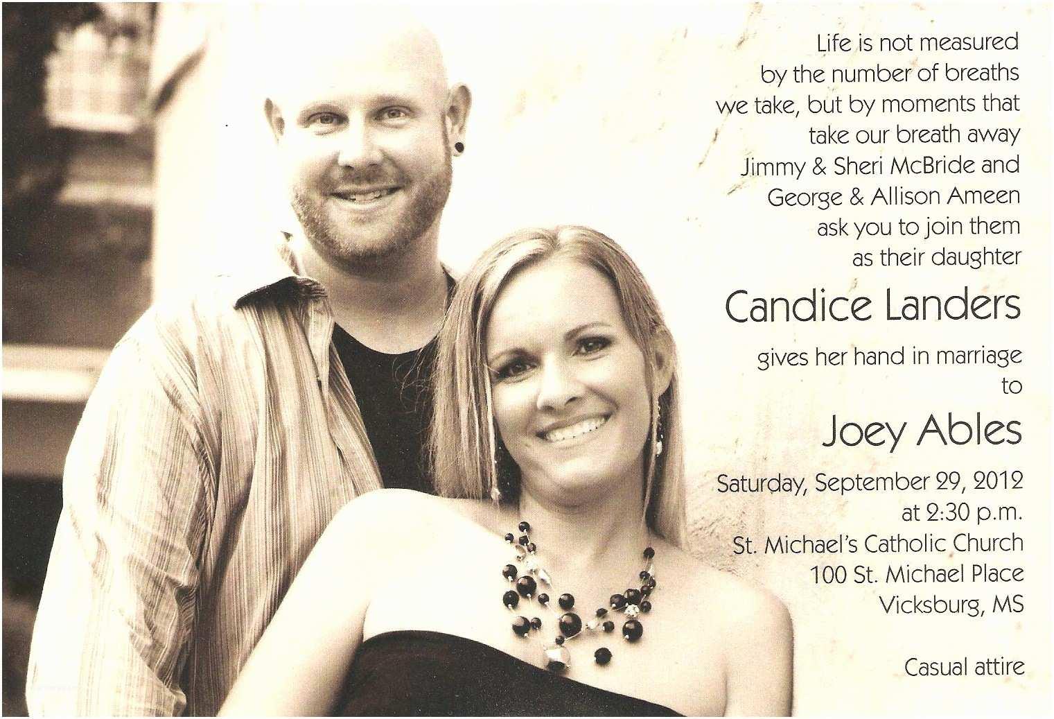 Wedding Invitation Wording From Nephew Marian S Hunting Stories Etc Etc Etc A