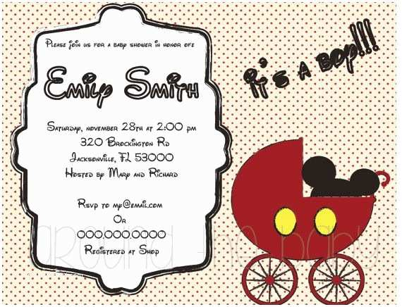 Wedding Invitation Wording From Nephew Nephew Mickey Mouse Baby Show with Mickey Mouse