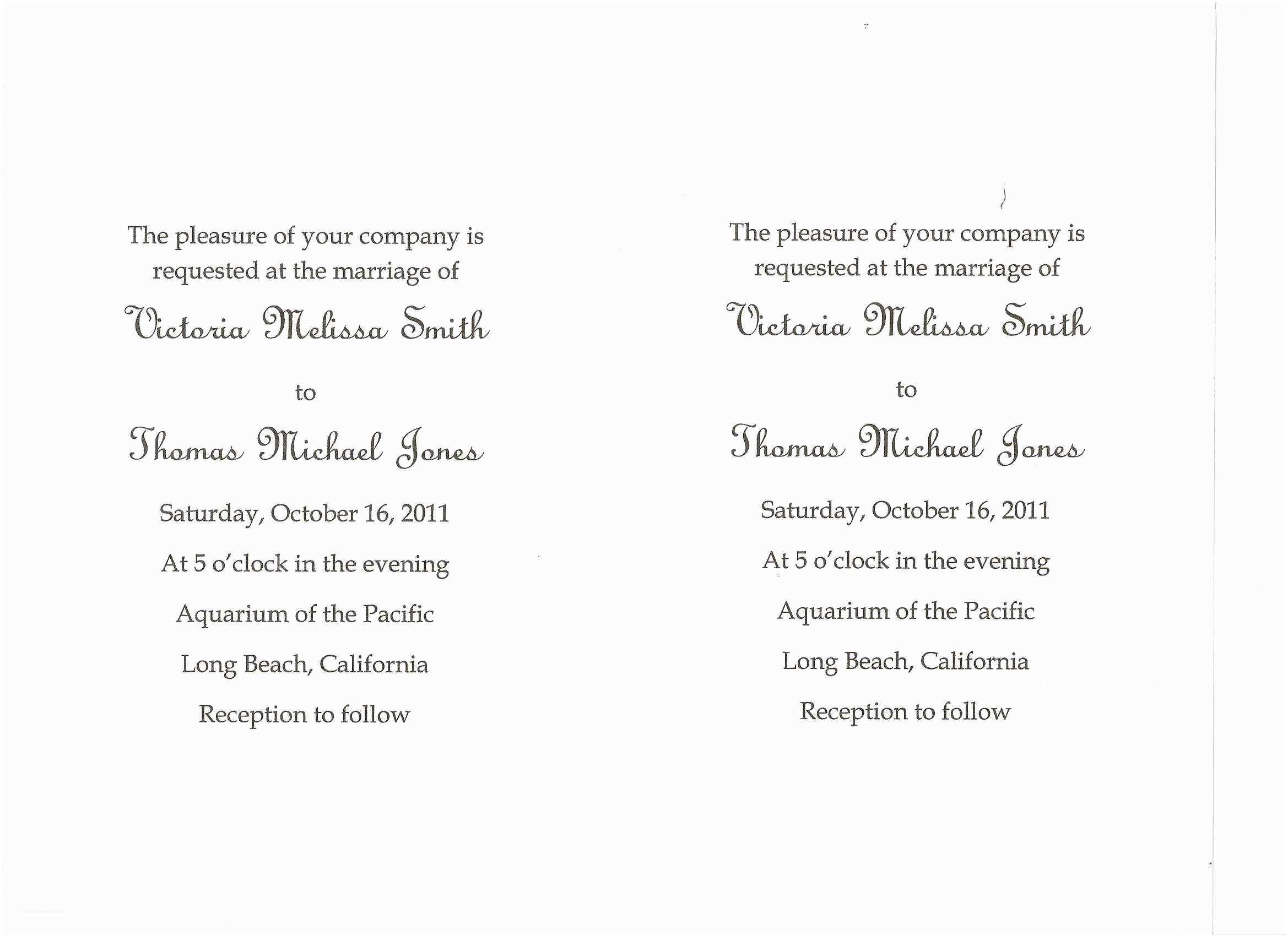 Wedding Invitation Wording Ideas Simple Wedding Invitation Wording