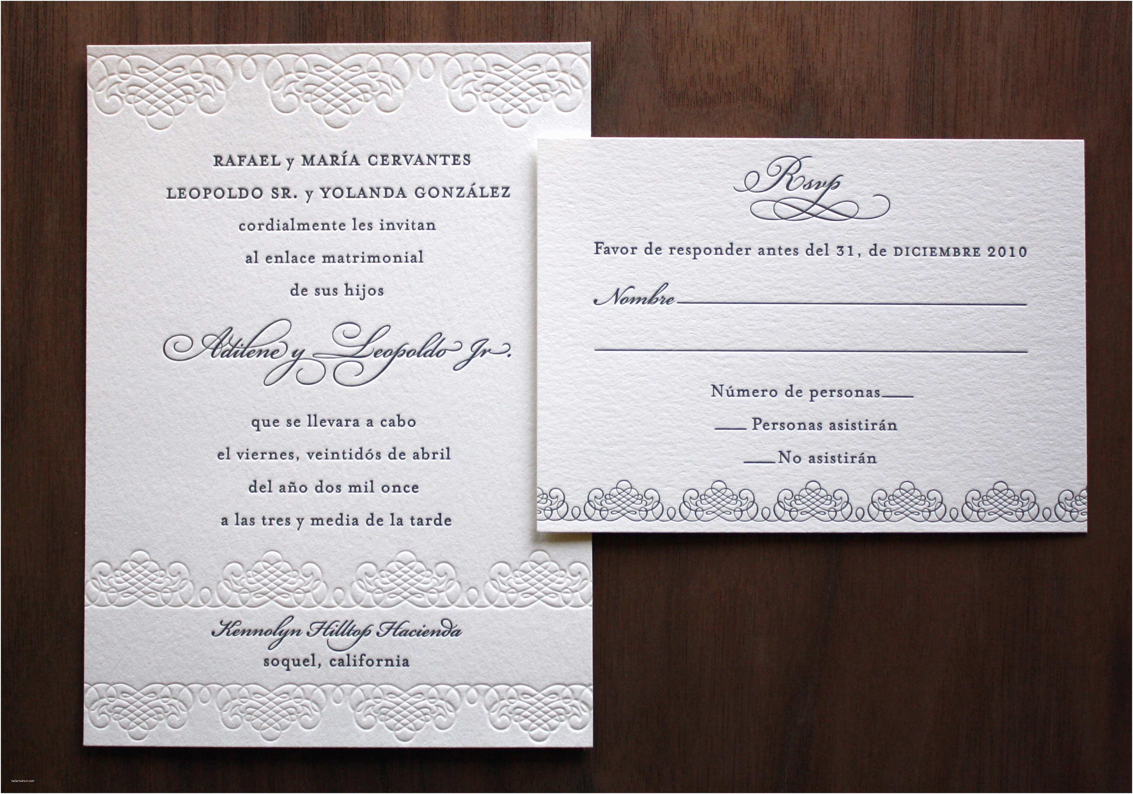 Wedding Invitation Wording Ideas Spanish Wedding Invitation Wording Sansalvaje