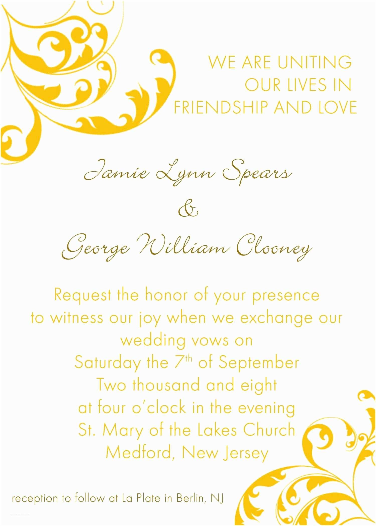 Wedding Invitation Wording Ideas Wedding Invitation Wording Wedding Invitation Wordings In