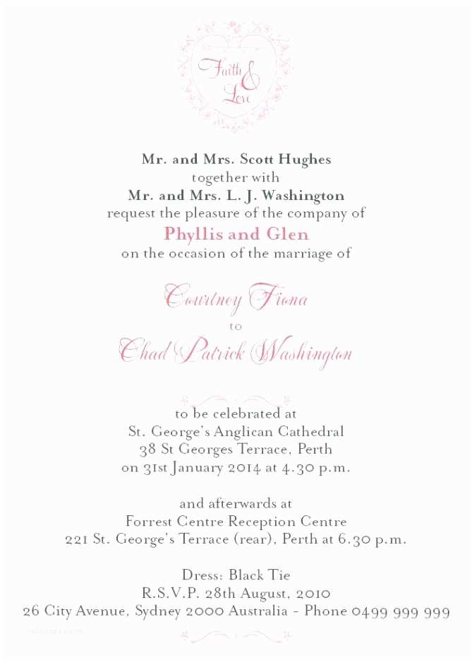 Wedding Invitation Wording Indian Bride and Groom Bride and Groom Wedding Invitation Wording