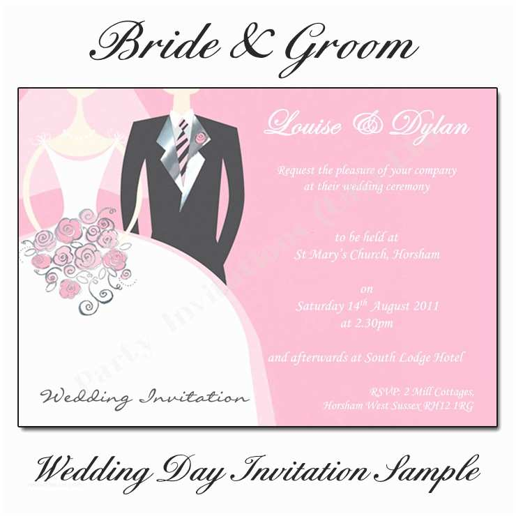 Wedding Invitation Wording Indian Bride and Groom Bride and Groom Wedding Invitations