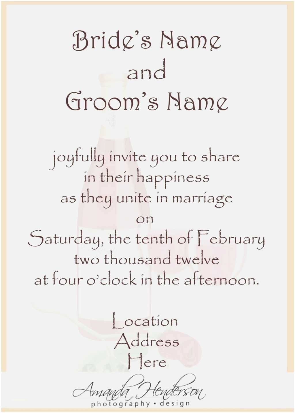 Wedding Invitation Wording Indian Bride and Groom New Wedding Invitations Samples Wording From Bride and