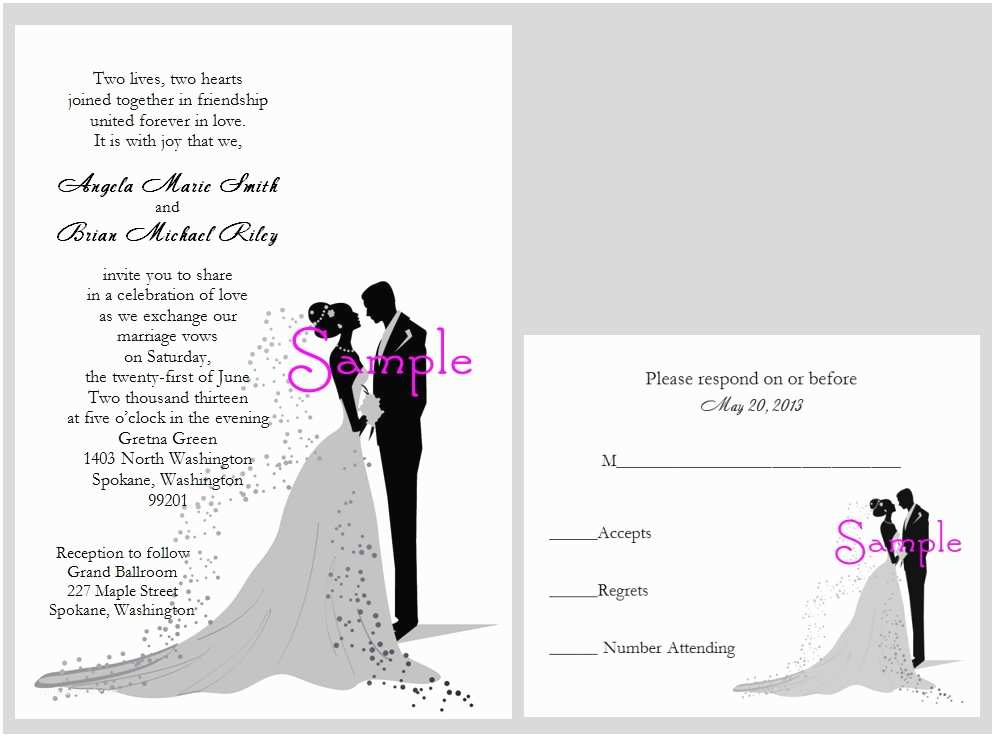 Wedding Invitation Wording Indian Bride and Groom Wedding Invitation From Bride and Groom