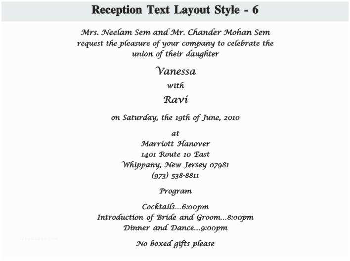 Wedding Invitation Wording Indian Bride and Groom Wedding Reception Invitation Wording S Samples Ly Indian
