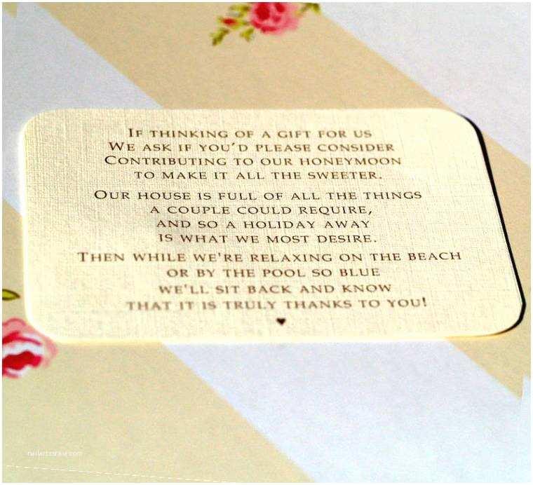 Wedding Invitation Wording Money Instead Of Gifts Beautiful