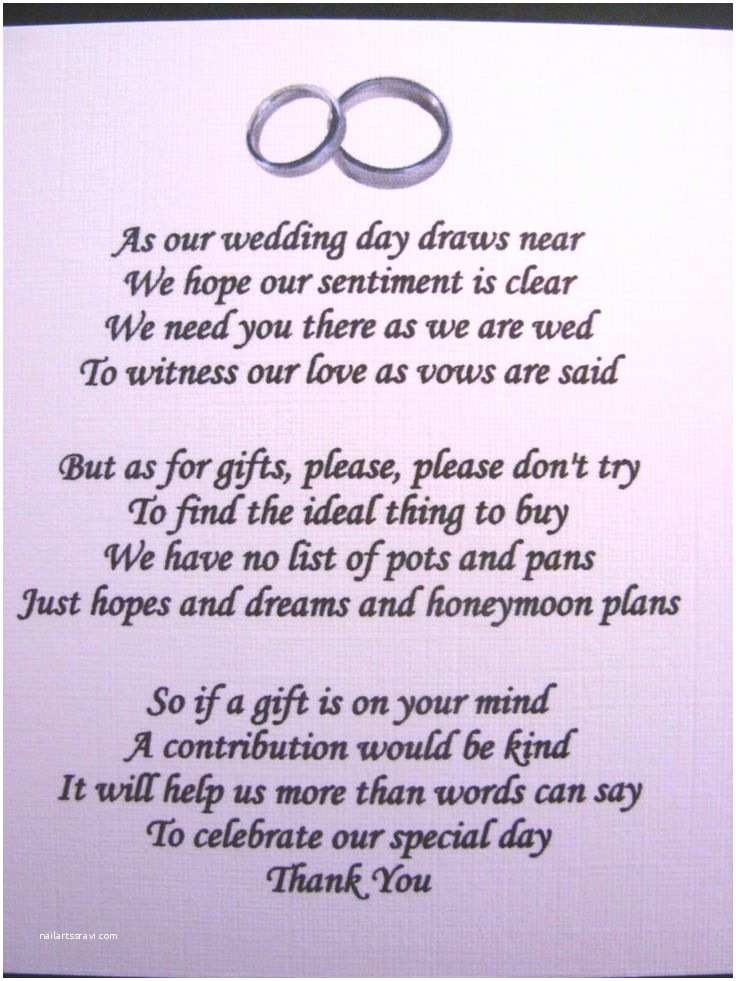 Wedding Invitation Wording Money Instead Of Gifts Wedding Money