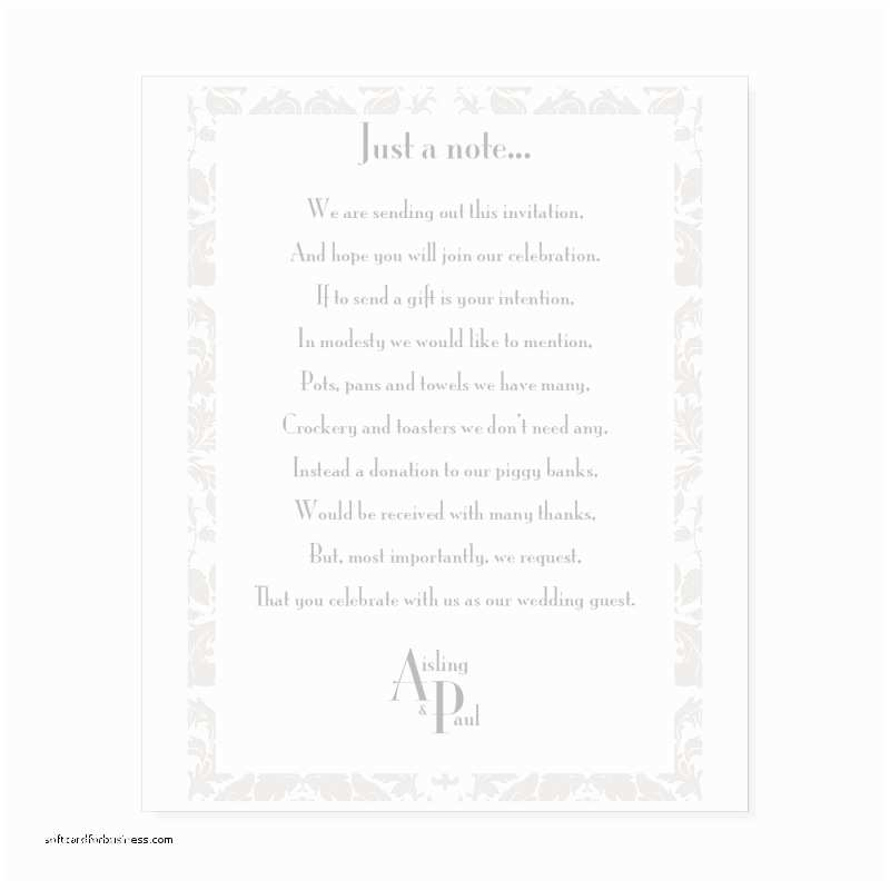 Wedding Invitation Wording Money Instead Of Gifts Wedding Invitation Luxury How to ask for Money A