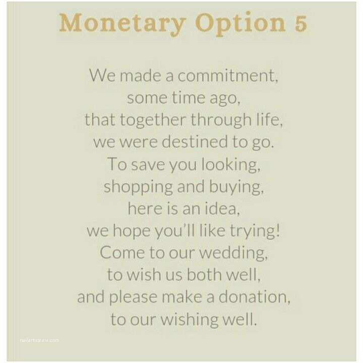 Wedding Invitation Wording Money Instead Of Gifts Wedding Invitation Wording for A Monetary T