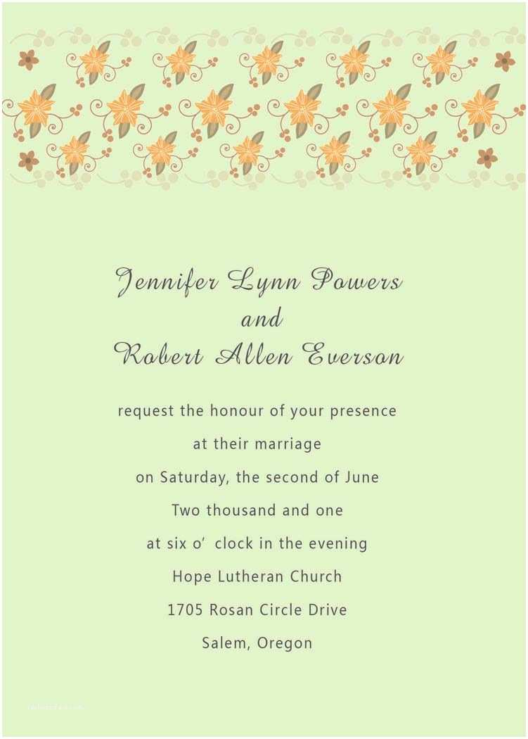 Wedding Invitation Wording Options Wedding Invitations In Spanish Text