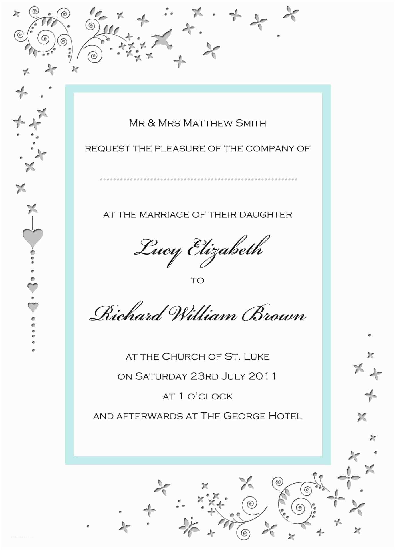 Wedding Invitation Wording Samples Modern Wedding Invitation Wording Samples