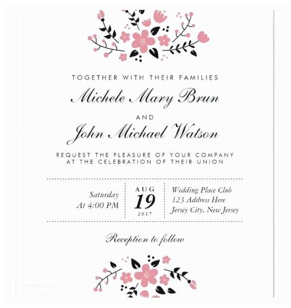 Wedding Invitation Wording Templates Free Printable Wedding Invitation Templates for Word
