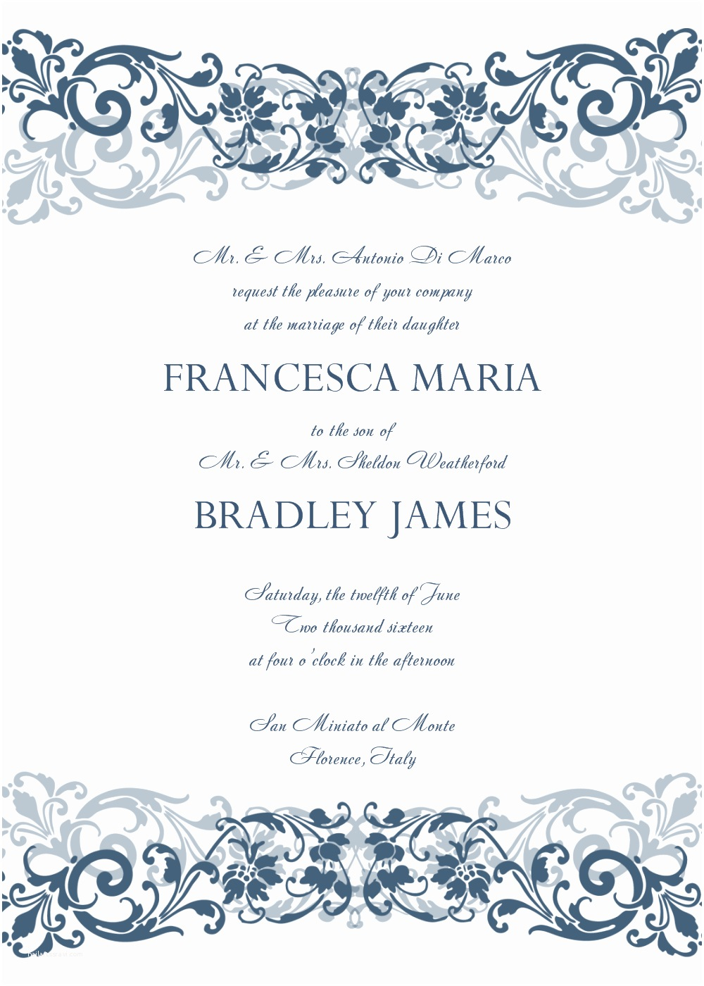 wedding invitation templates simple