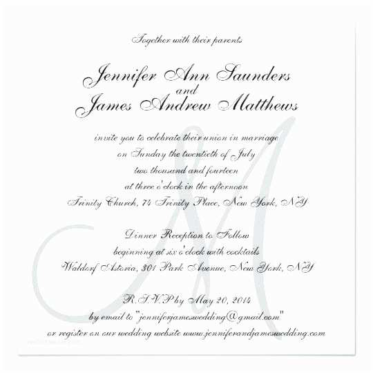 Wedding Invitation Wording Without Parents Wedding Invitation