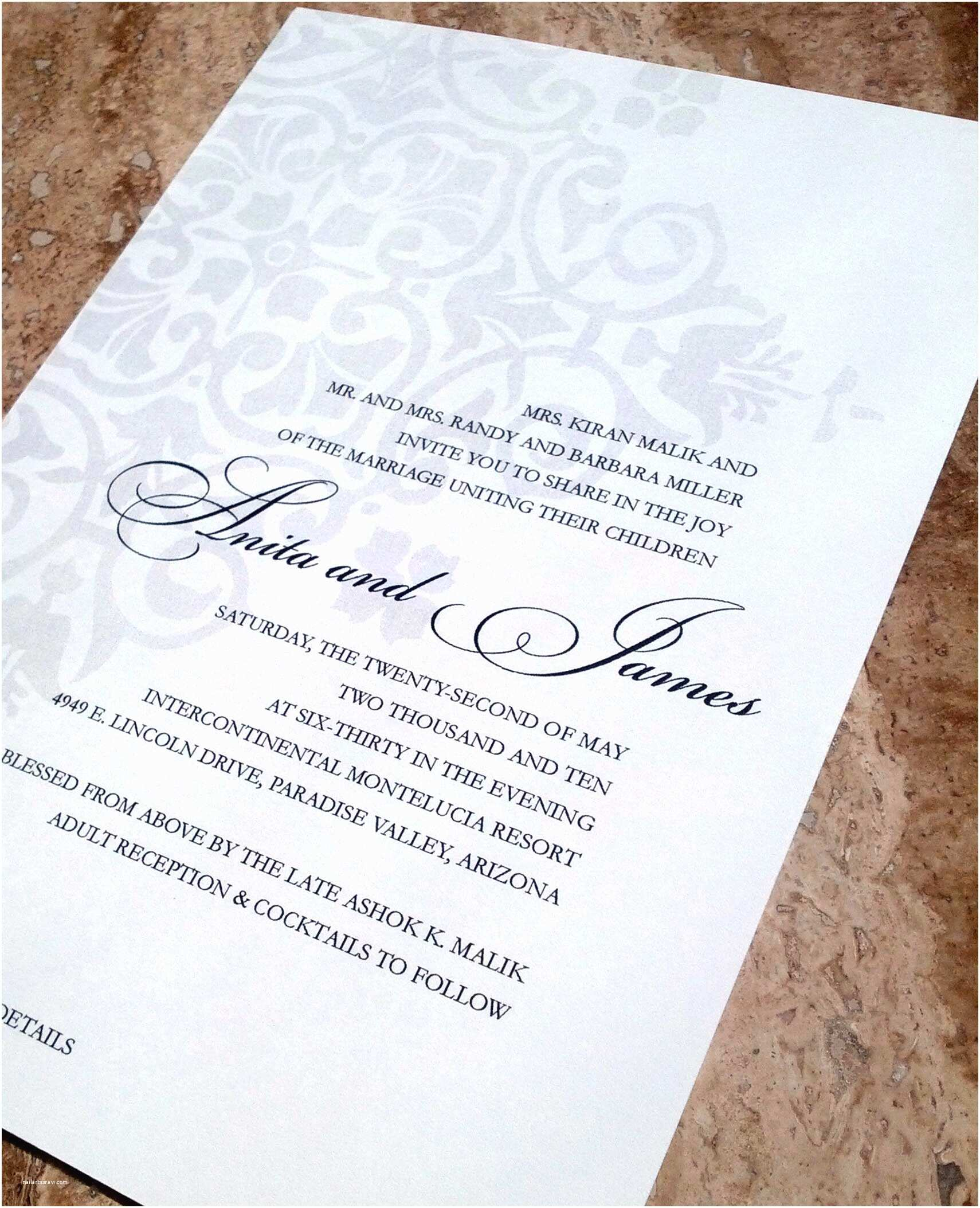 Wedding Invitation Wording without Parents islamic Prayers Invitation Cards