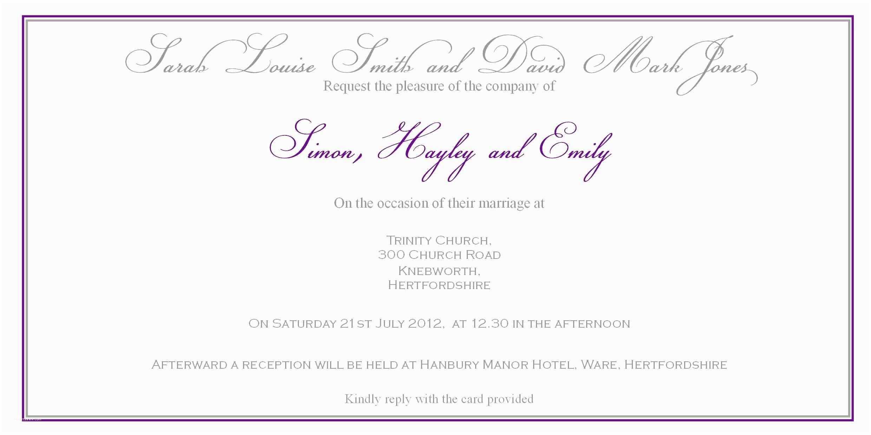 Wedding Invitation Wording without Parents Wedding Invitation Wording No Parents Gallery Baby