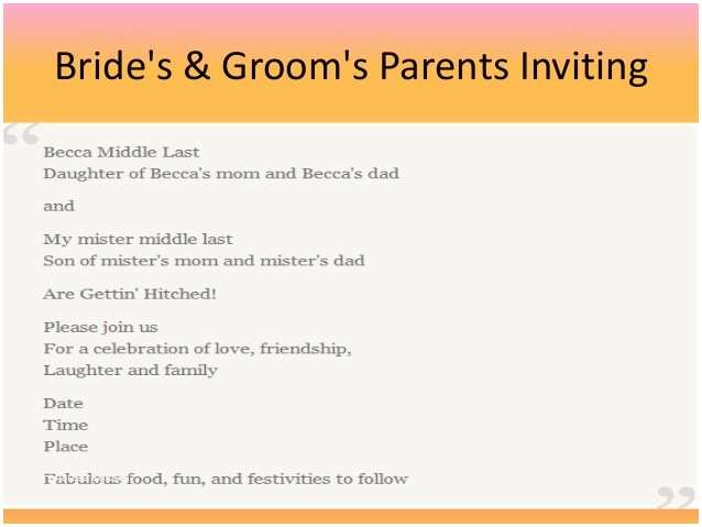 Wedding Invitation Wording without Parents Wedding Invite No Parents Yaseen for