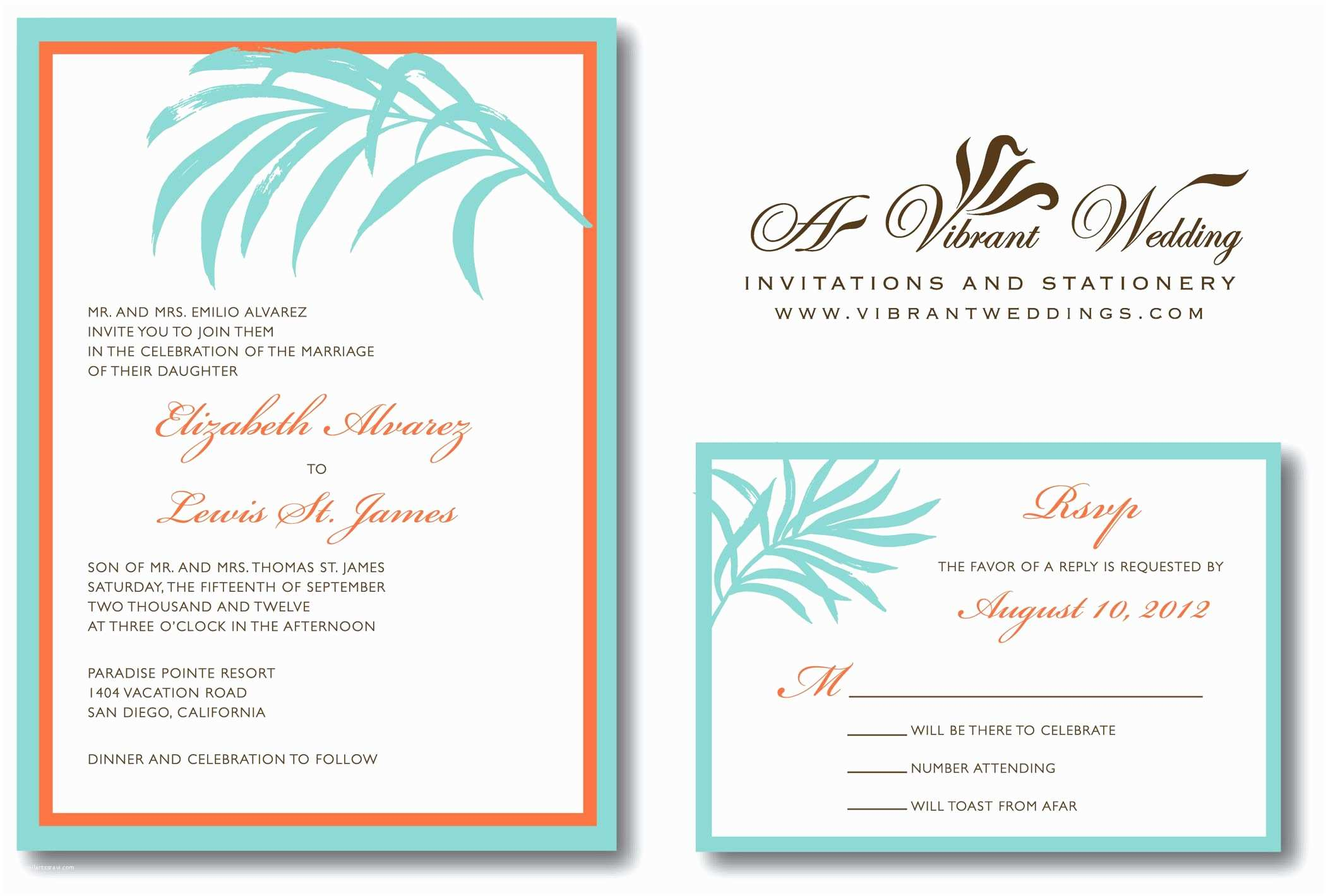 Wedding Invitations and Response Cards All In One Beach Wedding Invitation Rsvp In Invitation Card Meaning