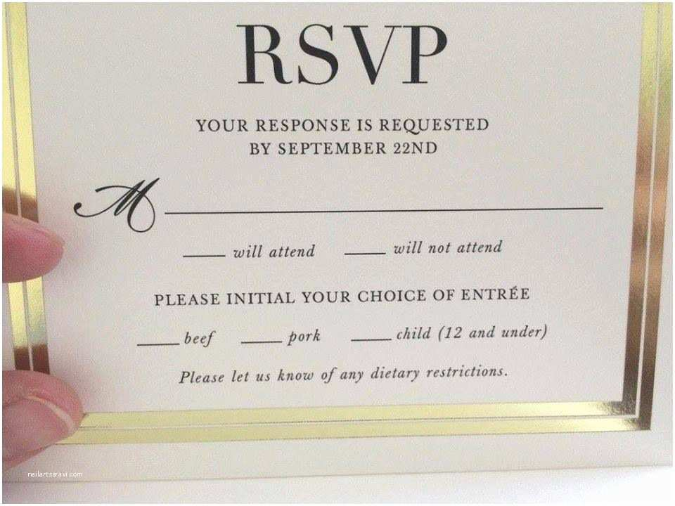 Wedding Invitations and Response Cards All In One Invitations with Rsvp Cards Best Customized Insert