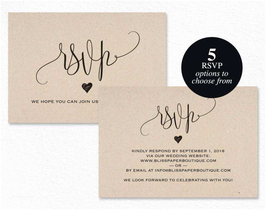 Wedding Invitations and Response Cards All In One Rsvp Postcard Rsvp Template Wedding Rsvp Cards Wedding