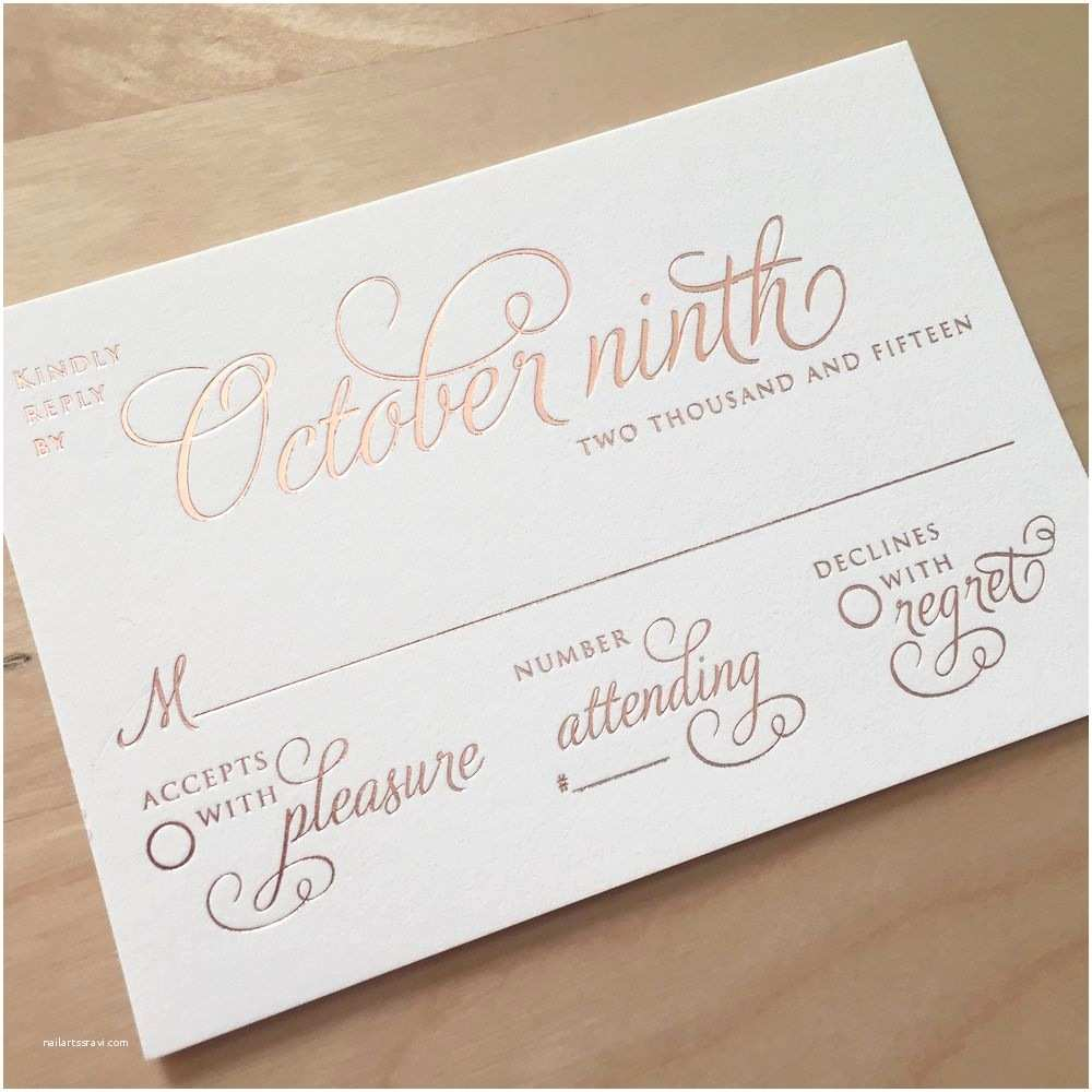 Wedding Invitations and Response Cards All In One Rsvp Response Card Wording Pinterest