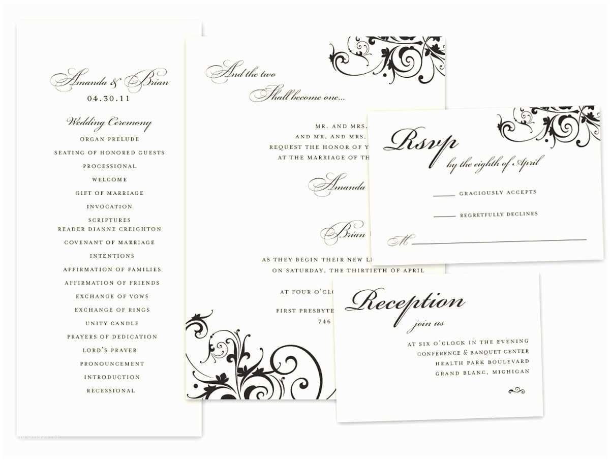 Wedding Invitations and Response Cards All In One Wedding Invitation Invitation Response Cards New