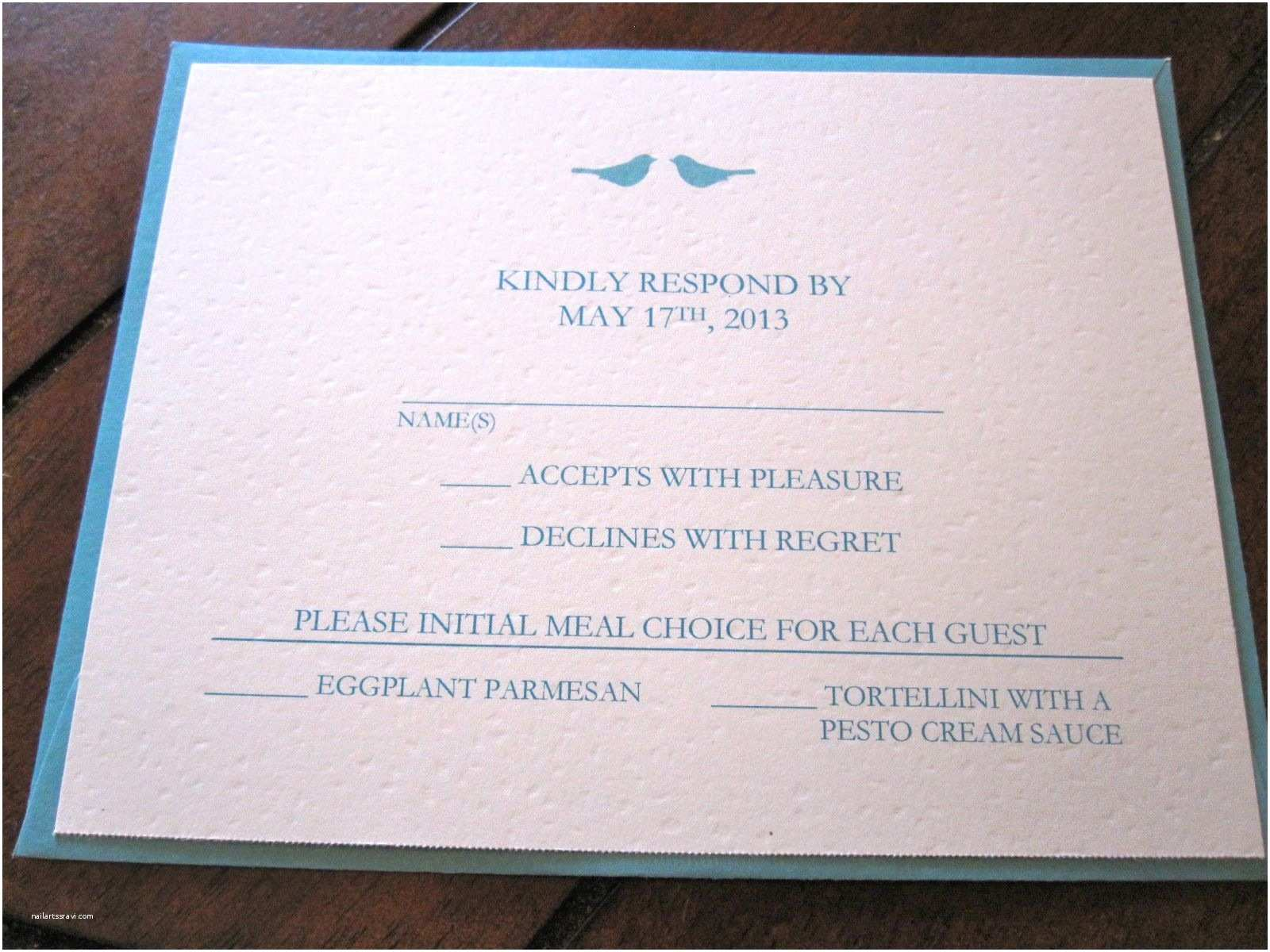 Wedding Invitations and Response Cards All In One Wedding Invitation Reply Card Wording Wedding Invitation