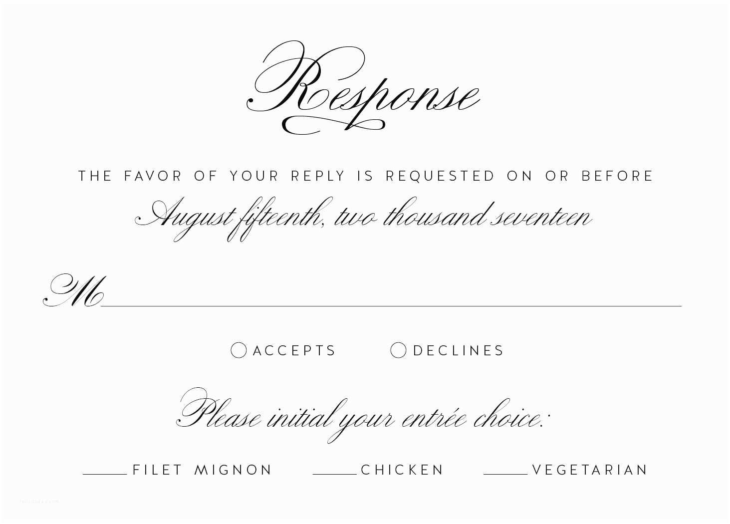 Wedding Invitations and Response Cards All In One Wedding Invitation Reply Card Wording Wedding Response