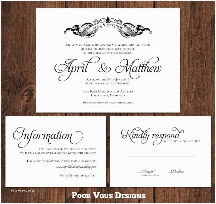 Wedding Invitations and Response Cards All In One Wedding Invitation Rsvp Wording