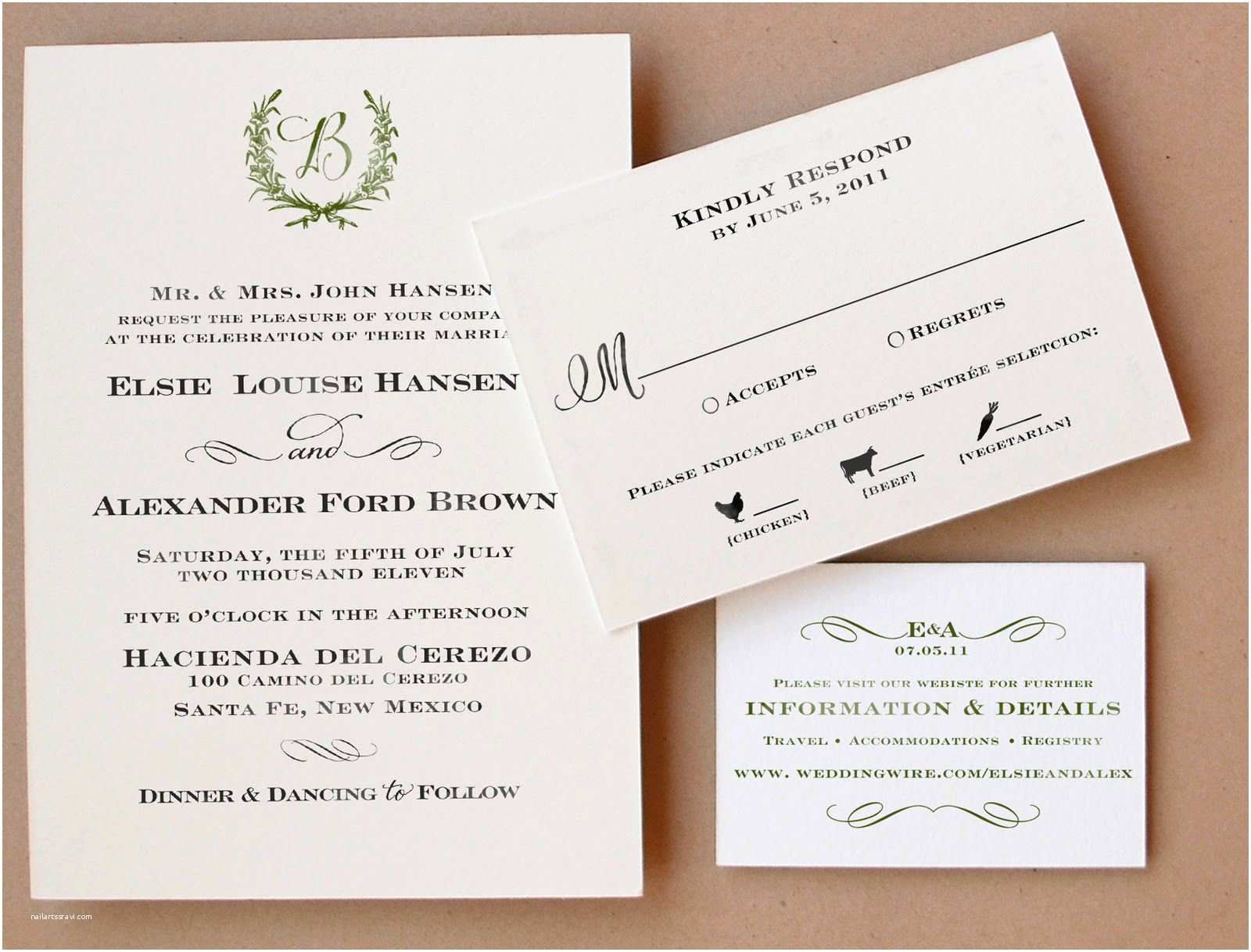 Wedding Invitations and Response Cards All In One Wedding Invitation Wedding Invitations Reply Cards New