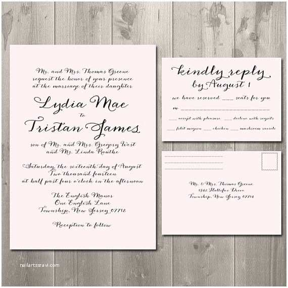 Wedding Invitations and Response Cards All In One Wedding Invitations and Rsvp Cards