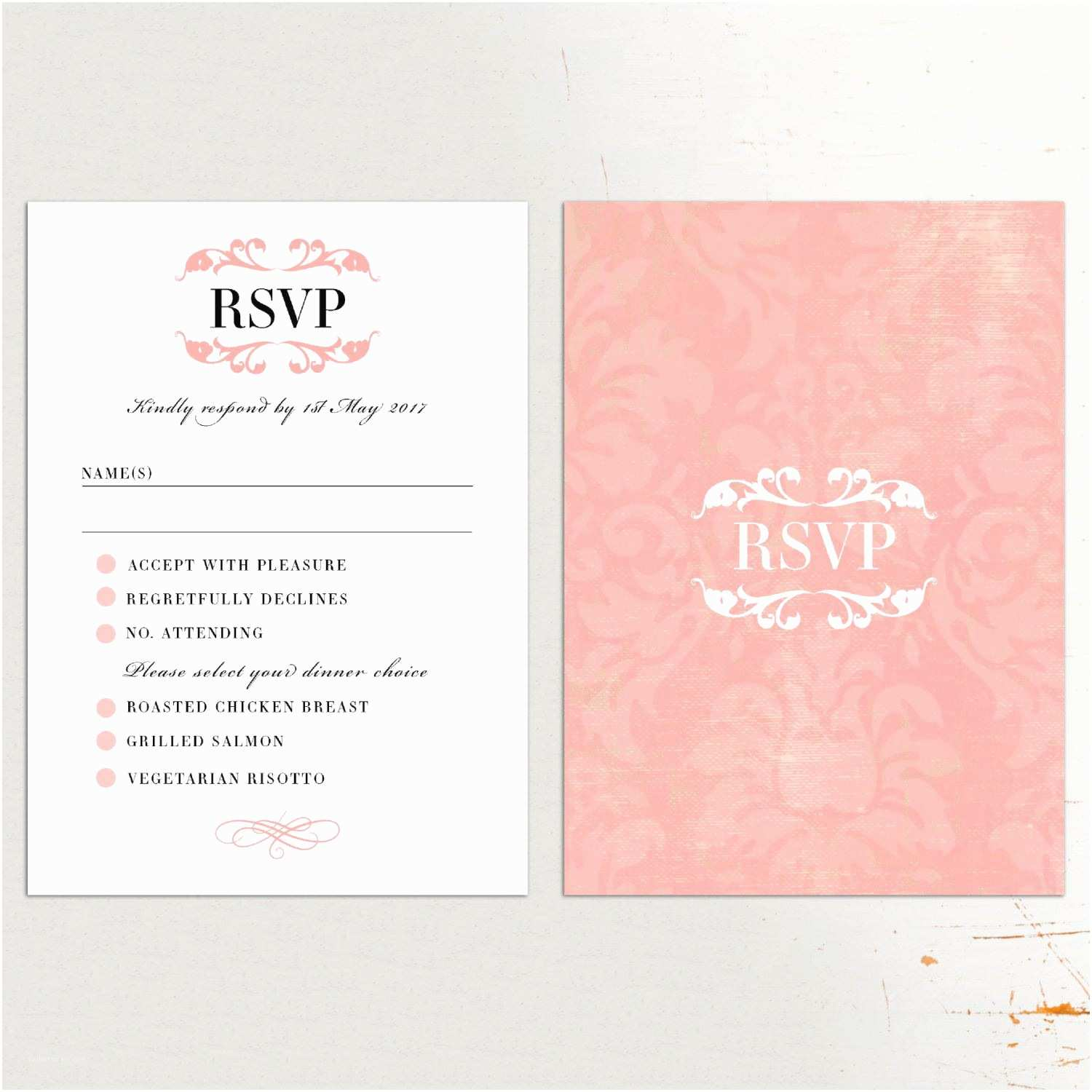 Wedding Invitations and Response Cards All In One Wedding Invitations with Rsvp Cards Included Wedding