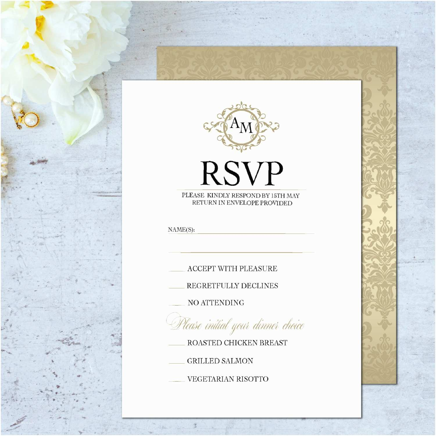 Wedding Invitations and Response Cards All In One Wedding Rsvp Card Wedding Rsvp Cards Classic Rsvp Cards