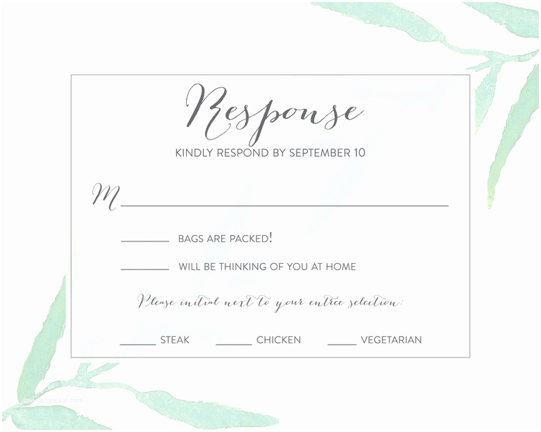 Wedding Invitations and Response Cards All In One Wedding Rsvp Wording Ideas