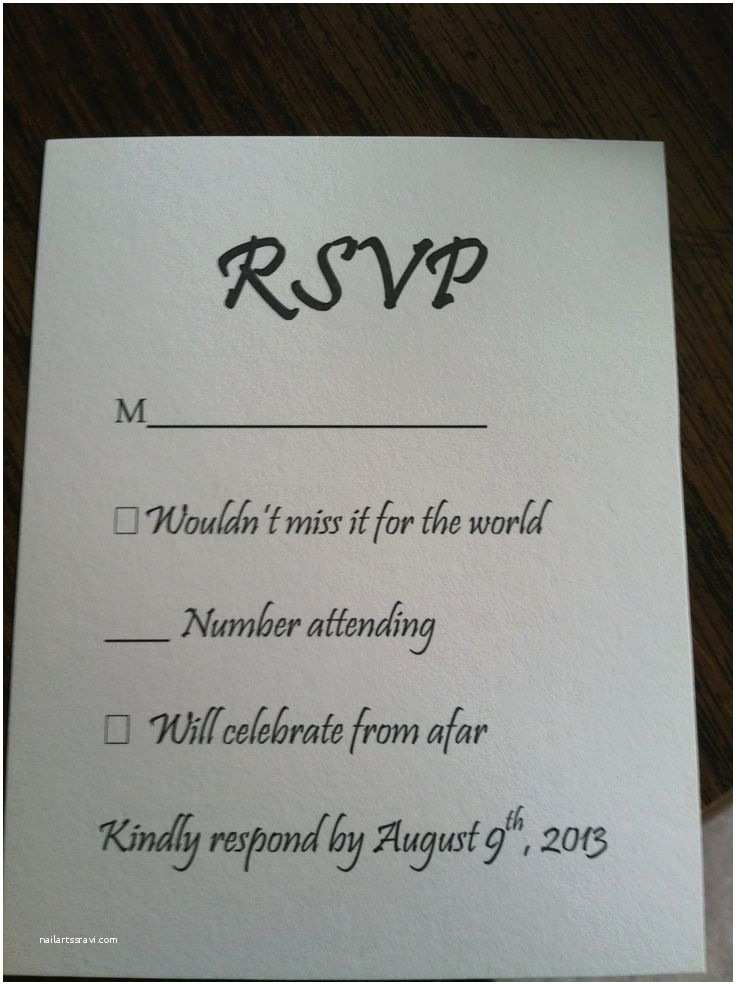 Wedding Invitations and Rsvp 25 Best Ideas About Wedding Response Cards On Pinterest