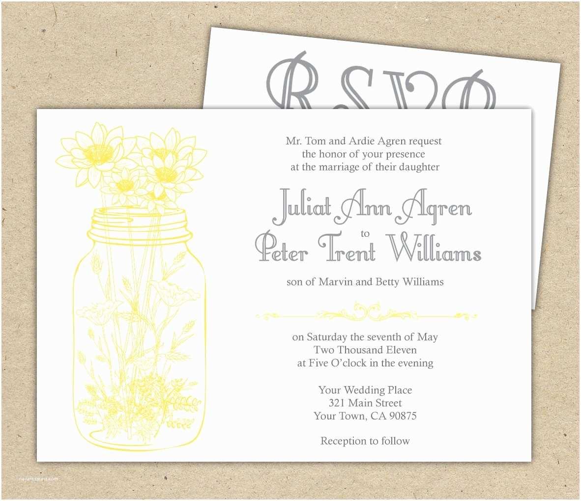 Wedding Invitations And Rsvp Cards Invitation Wording