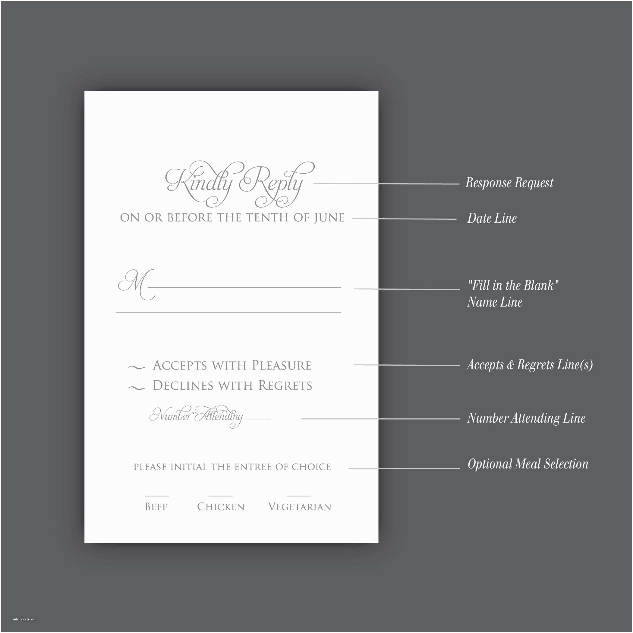 Wedding Invitations and Rsvp How to Correctly Word Your Wedding Rsvp Card