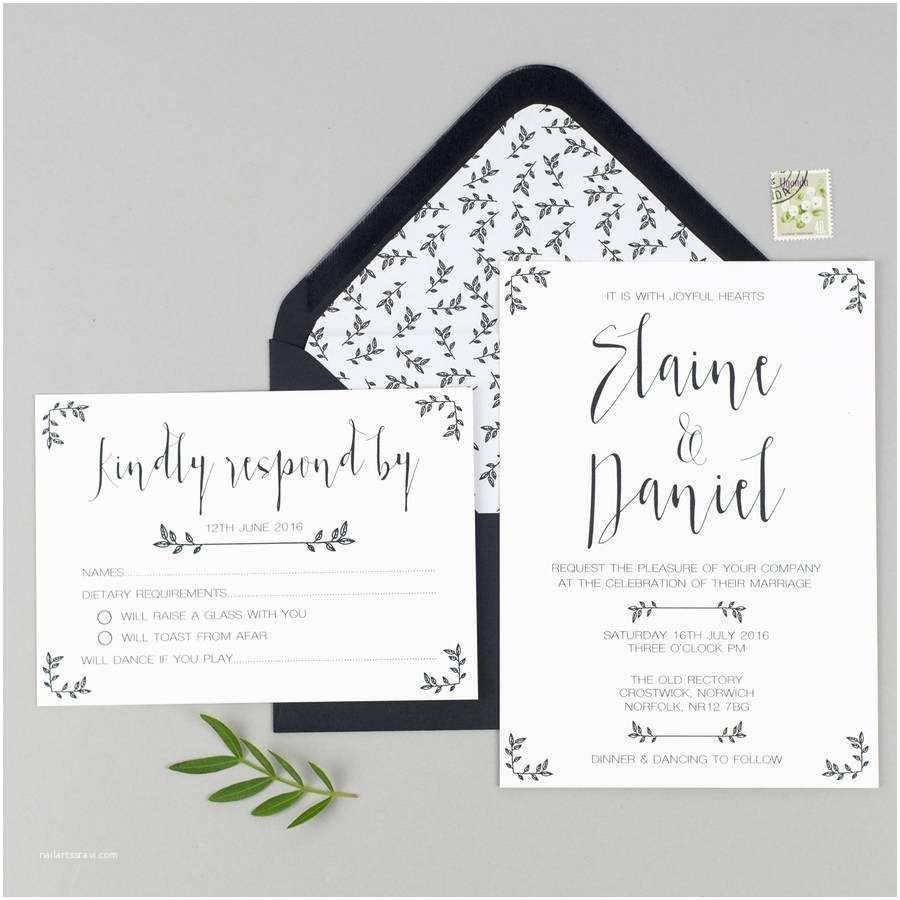 Wedding Invitations and Rsvp Modest Love Wedding Invitation and Rsvp by Eliza May