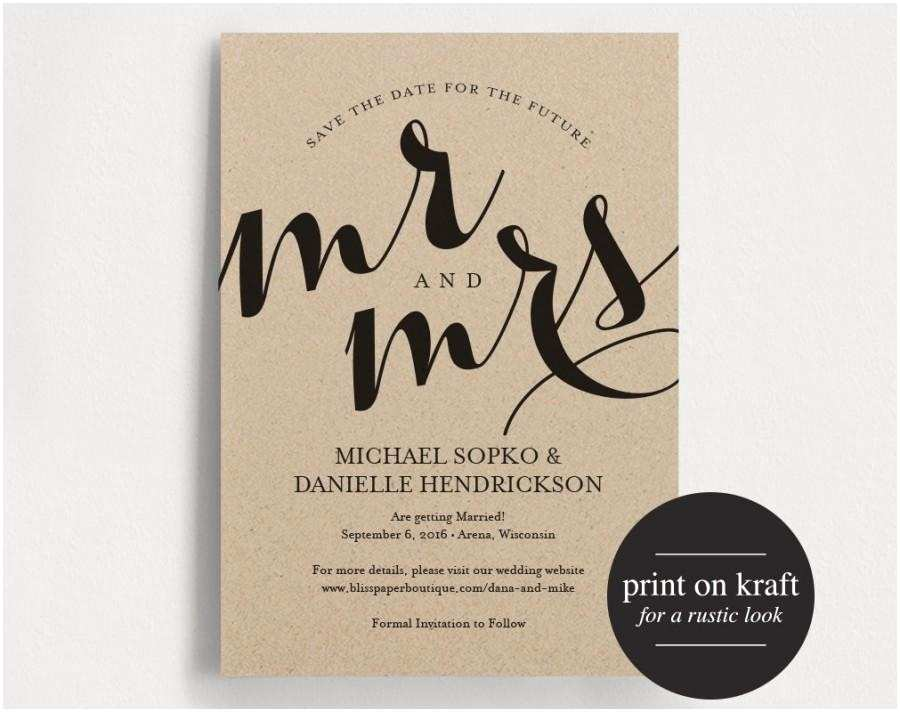 Wedding Invitations and Save the Dates Save the Date Printable Template Save the Date Invitation
