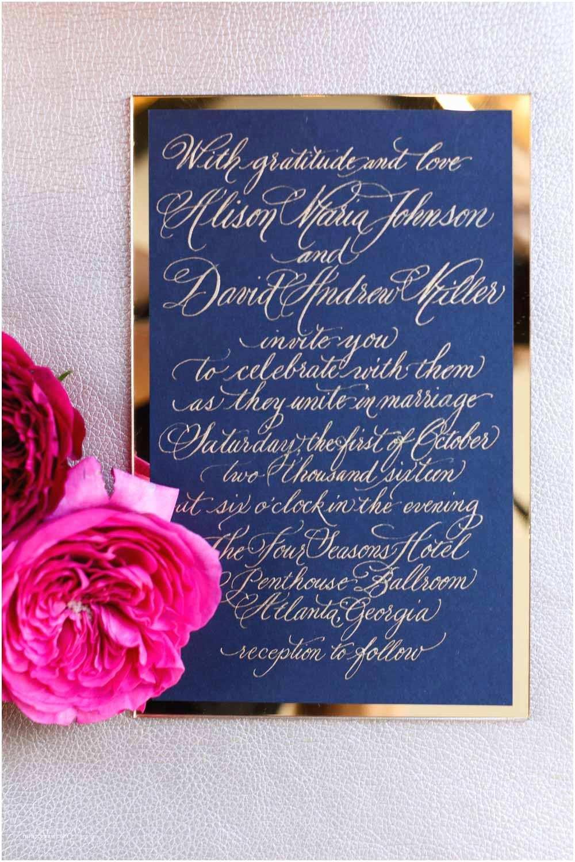 Wedding Invitations atlanta Candlelit Penthouse Wedding Inspiration at the Four