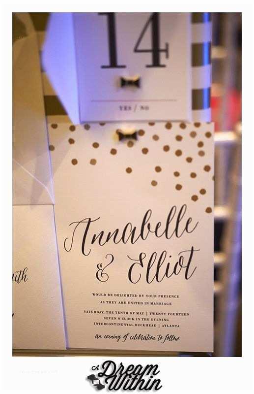 Wedding Invitations atlanta Kate Spade Inspired Wedding Design Wedding Invitation