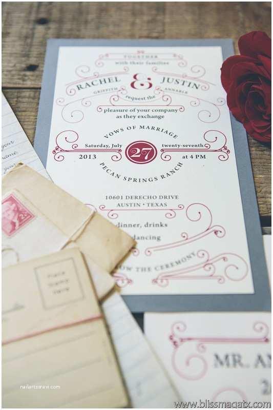 Wedding Invitations Austin Vintage Modern Wedding Styled Shoot Wedding