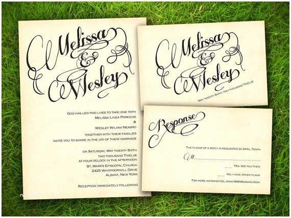Wedding Invitations Austin Vintage Wedding Invitation Printable Digital Files Austin
