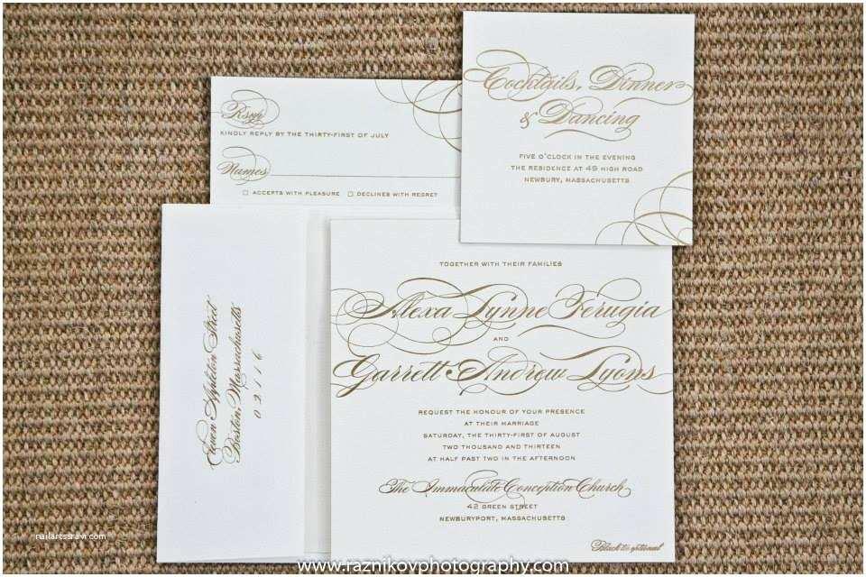 Wedding Invitations Boston Allure Invitations Wedding Invitations Massachusetts
